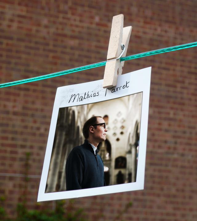 Mathias Parret, pastoor in Ieper © Portret en collage Sim D'Hertefelt, frame Tim Regan op Flickr