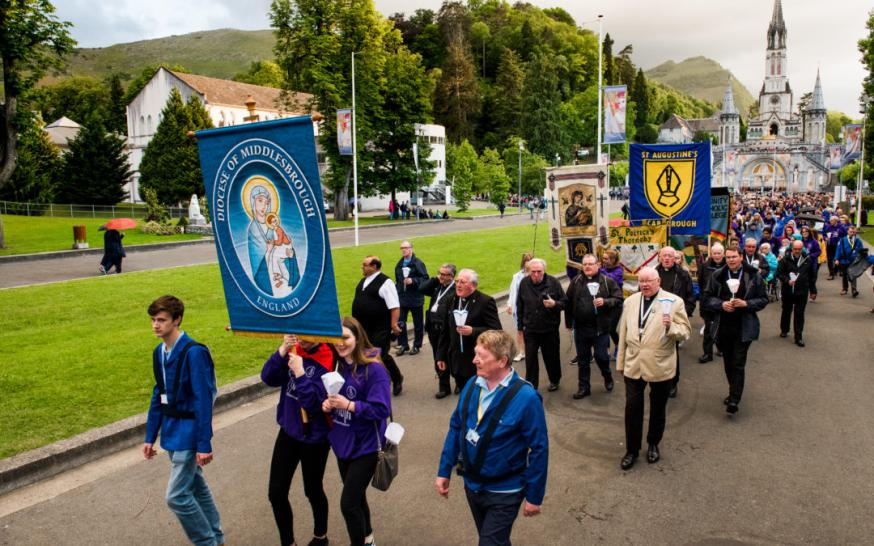 Middlesbrough in 2019 op bedevaart naar Lourdes © Middlesbrough Diocese