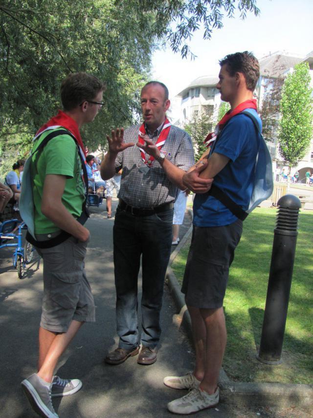 In Lourdes is er veel kans tot ontmoeting © Lourdesbedevaart Antwerpen