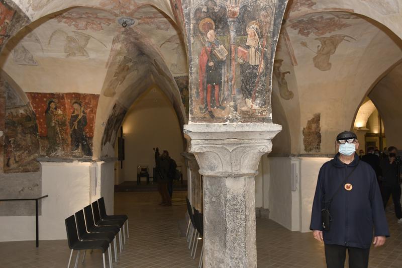 Ook de crypte van de kathedraal werd prachtig gerestaureerd. © Firmin De Maitre