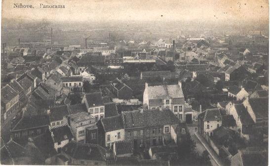 Oud panorama vanuit de kerktoren
