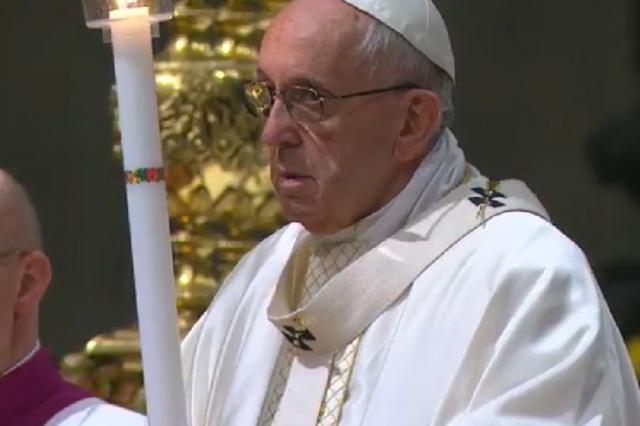 Paaswake met de paus © Vaticaan Media