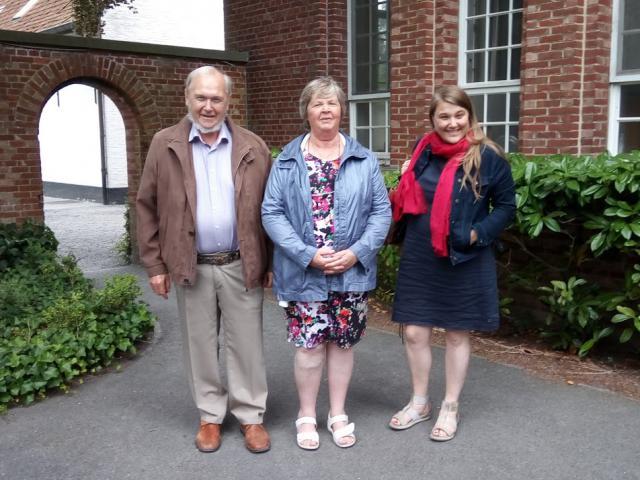 Van links: Willy Vandamme, Lut Wouters en Barbara Mertens. © Pax Christi