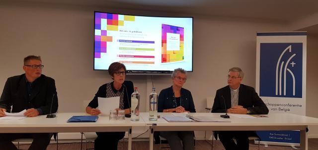Peter De Burggrave, Chantal Daelman, Marijke Vanhoutte en mgr. Johan Bonny © IPID