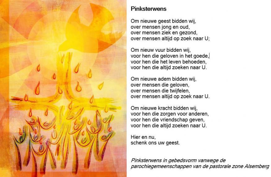 Pinksterwens in gebedsvorm vanwege de parochiegemeenschappen van de pastorale zone Alsemberg © JH
