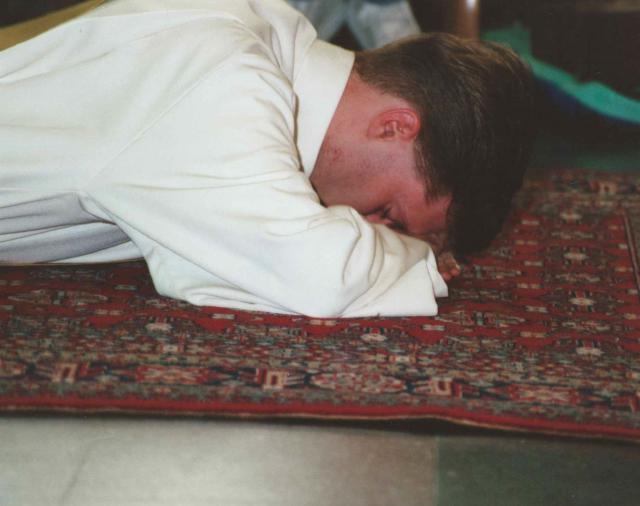 Pastor Gino op de priesterwijding 25 jaar geleden © Gino Mattheeuws