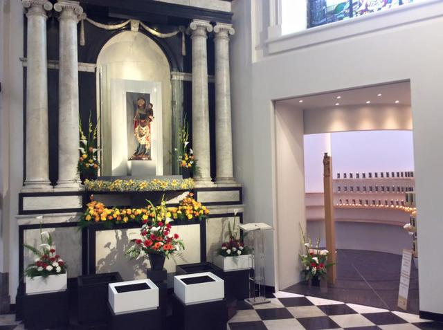 Een nieuwe plek voor de Virga Jesse in de Hasseltse basiliek. © Luc Smeets