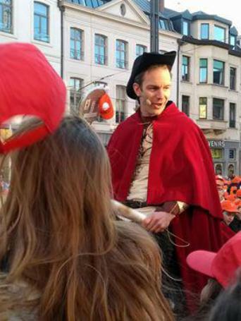 Op het slotmoment ontmoeten we ridder Alowin, die Bavo wordt © Kerk Stekene en Sint-Gillis-Waas