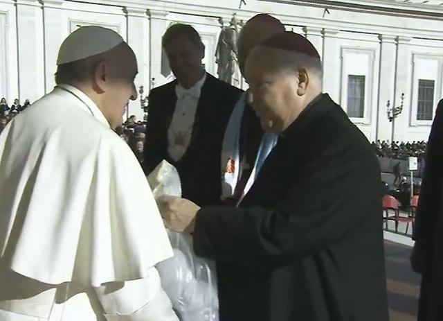 De Limburgse bisschoppen bij de paus © Bisdom Roermond