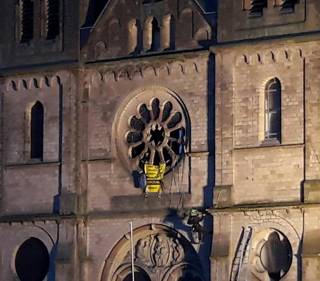 De Sint-Lambertusbasiliek van Garzweiler © Barbara Schnell/Greenpeace