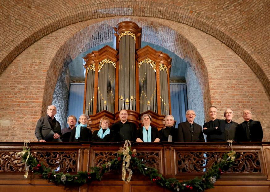 Het koor Schola Sainnensis zingt Gregoriaans  © H.Casaer