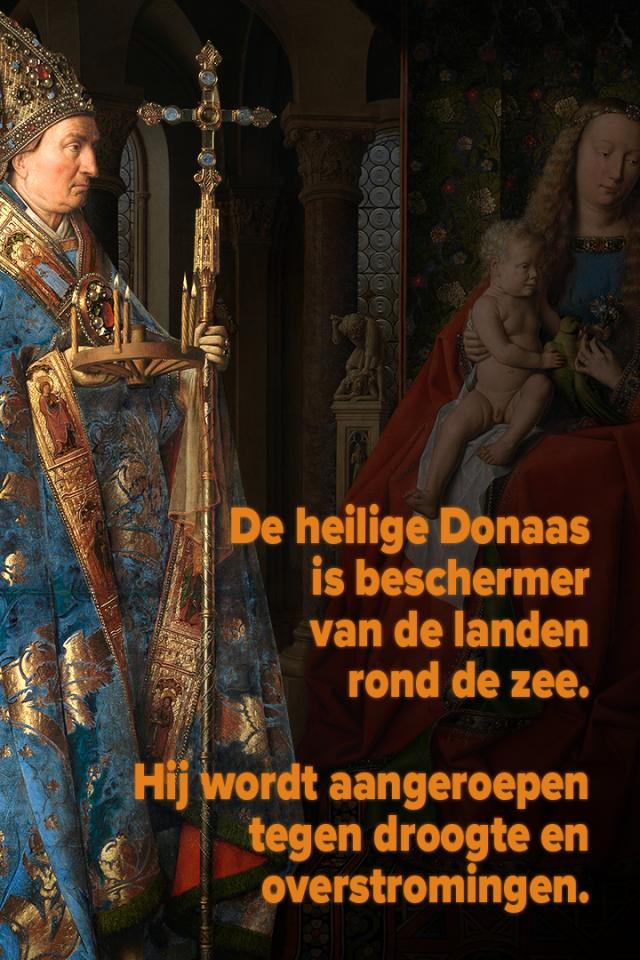Jan Van Eyck. Madonna met kanunnik Joris van der Paele © Musea Brugge, www.lukasweb.be - Art in Flanders. Foto Hugo Maertens