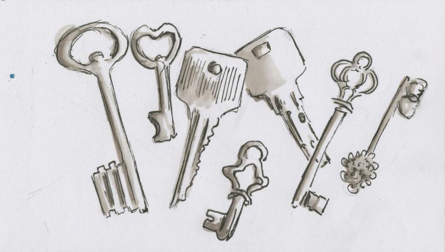 Sleutels © Bisdom Gent, tekening: Koen Van Loocke