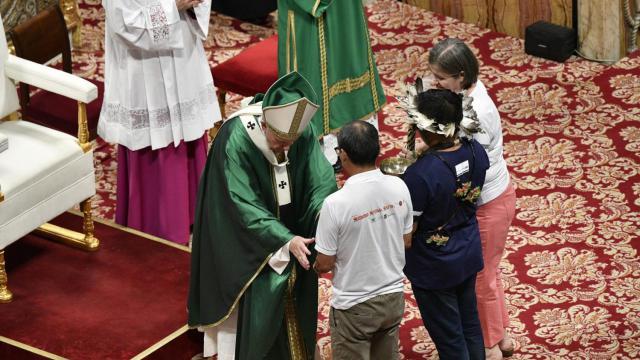 Met een plechtige eucharistieviering in de Sint-Pietersbasiliek is  vanmorgen zondag de Bisschoppensynode voor de Panamazoneregio van start gegaan © VaticanMedia
