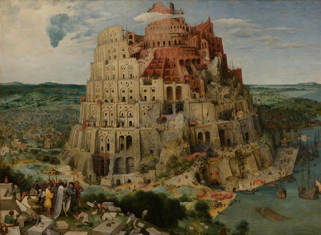 De toren van Babel (ca. 1563) van Pieter Bruegel de Oude (1525 - 1569) © Kunsthistorisches Museum Wien