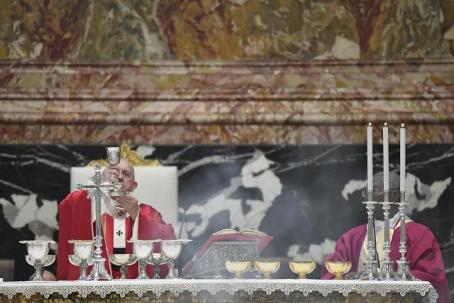 Paus Franciscus tijdens de Requiemmis © Vatican Media