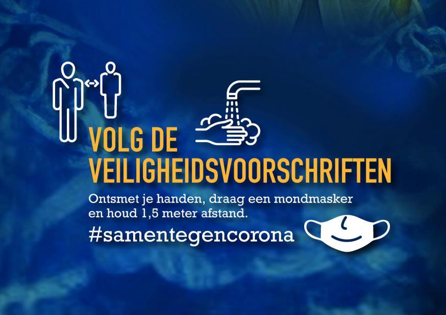 Volg de veiligheidsvoorschriften. © Claraparochie, ontwerp: Steven De Dapper - www.dezetterij.be