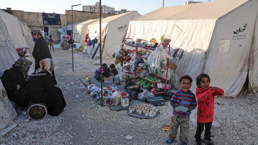 Een kamp met Syrische vluchtelingen aan Grieks-Turkse grens © Vatican Media
