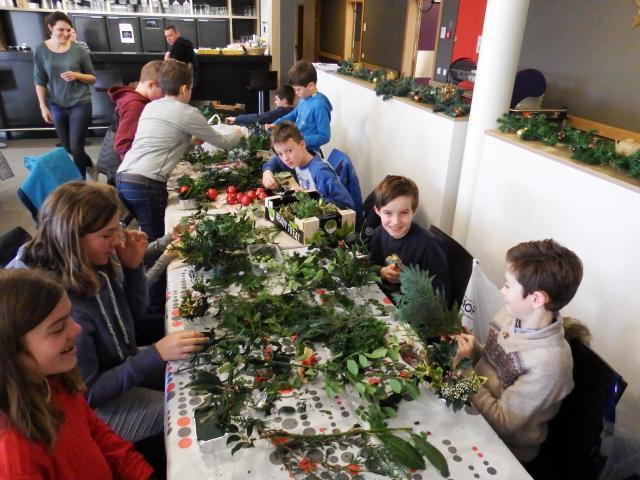 kerststukjes voor bewoners van WZC Ten Oudenvoorde Ertvelde