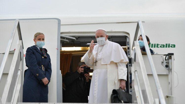 Paus Franciscus is vanmorgen vertrokken naar Irak © Vatican Media