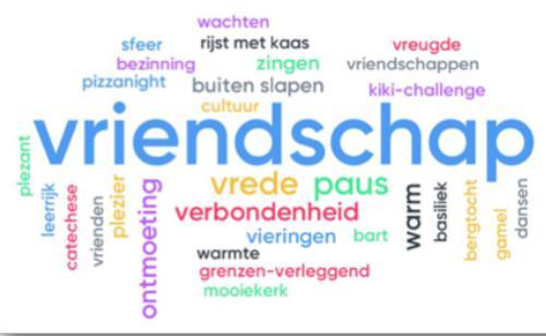 word-cloud gemaakt door de misdienaars via www.mentimeter.com © Jan Demuynck