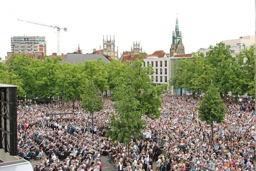 Ruim 900.000 belangstellende namen deel aan de 101ste Katholikentag © katholikentag.de/Nadine Malzkorn