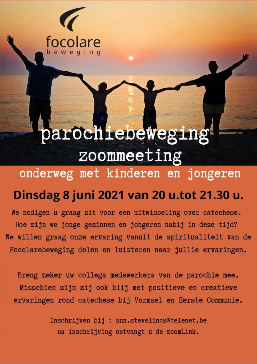 op dinsdag 8 juni organiseert de Focolarebeweging een Zoomsessie over catechese en omgaan met jongeren. © Focolarebeweging