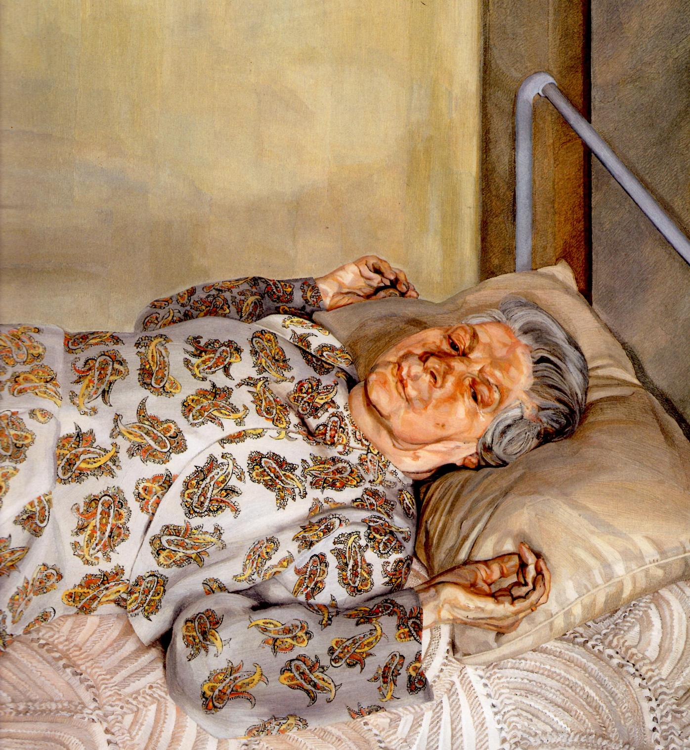 Lucien Freud, The painter's mother resting © Wikiart