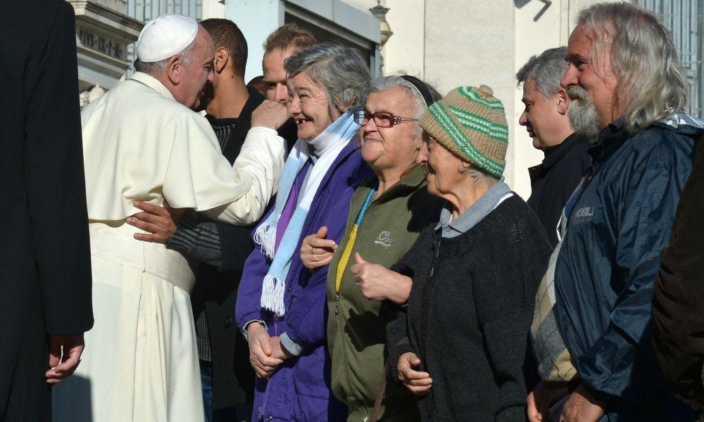 Paus Franciscus opent het wassalon in Rome © Sant'Egdio