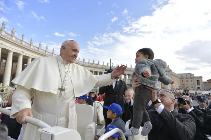 Paus Franciscus tijdens de audiëntie van woensdag © Vatican Media